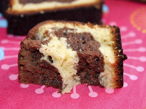 Marbré chocolat noir et blanc1