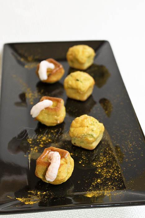 Bouchées courgette crevette
