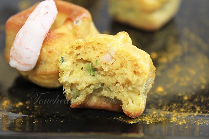 Bouchées courgette crevette1