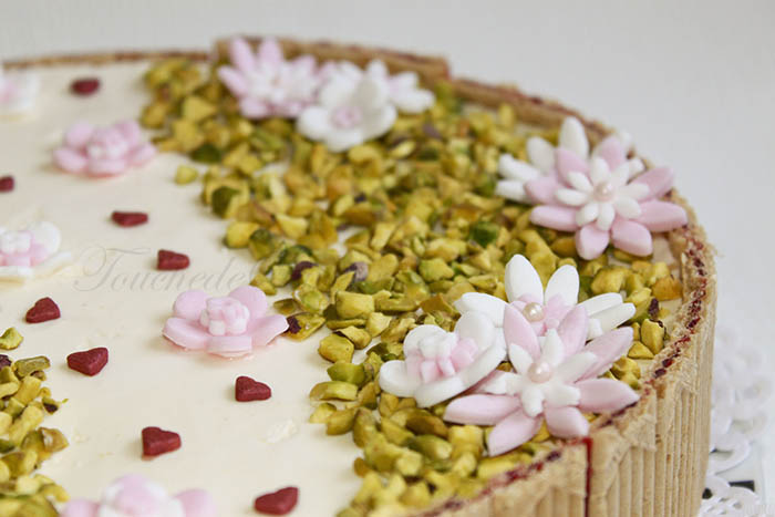 Entremet fleuri fromage blanc speculoos1