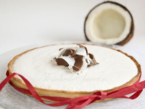 Tarte chocolat mousse coco