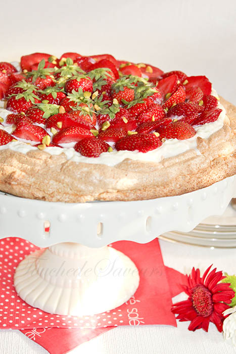 Tarte meringuée fraises