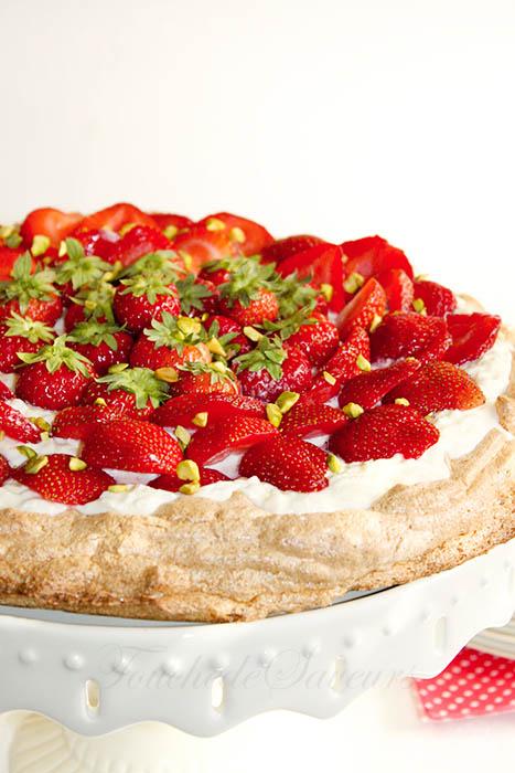 Tarte meringuée fraises1