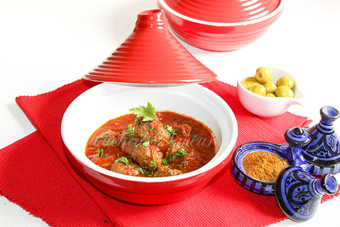 Boulettes boeuf sauce tomate façon tajine
