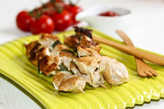 Brochettes poulet tandoori