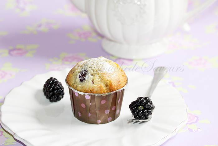 Muffins mûres chocolat blanc