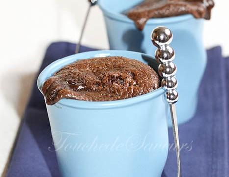 Fondant chocolat speculoos mascarpone