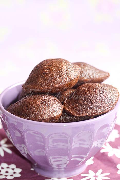Mini madeleines chocolat