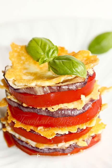 Millefeuille aubergine tomate