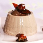 Pannacotta nutella noisettes caramélisées