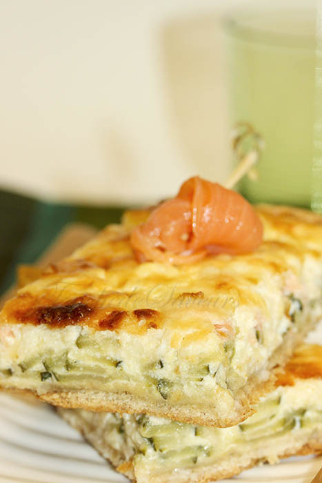 Tarte courgette cumin cottage cheese1