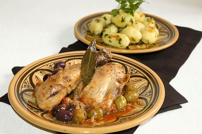 Poulet aux olives berbères