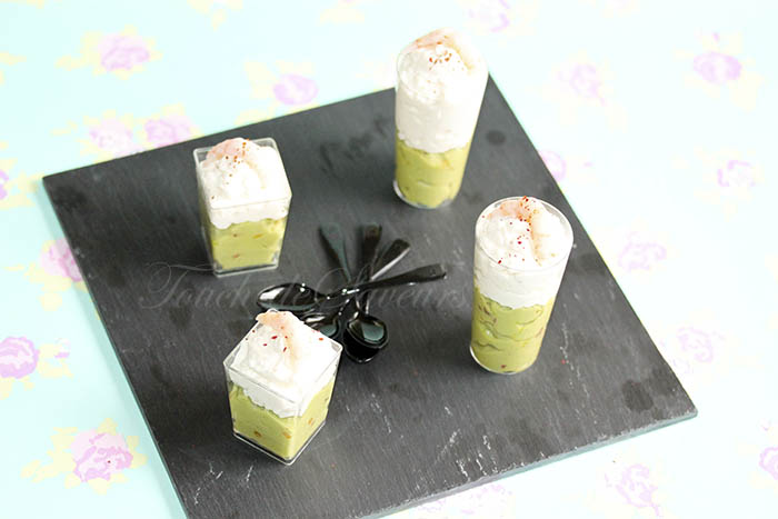 Verrine mousse crevette avocat
