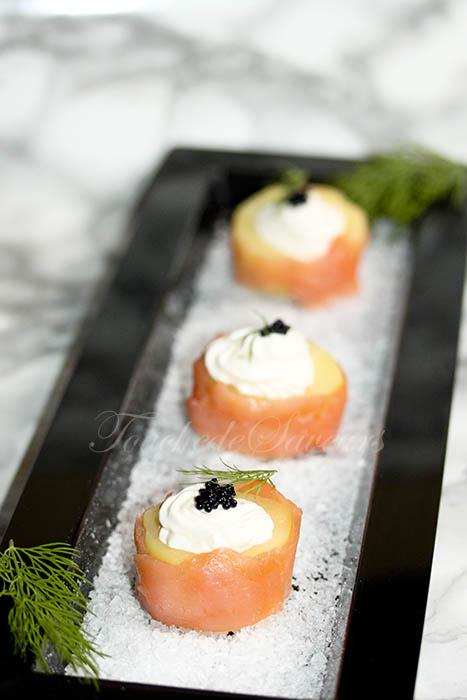 Makis pomme de terre saumon fumé