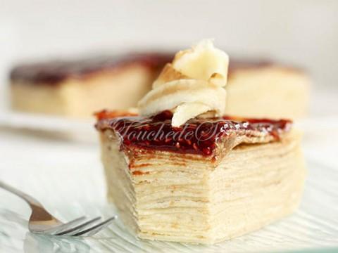 Gâteau crêpes amandine