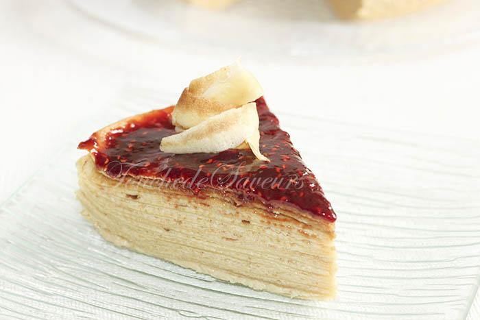 Gâteau crêpes amandine1