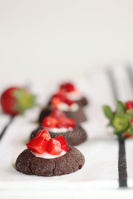Nids chocolat fraises