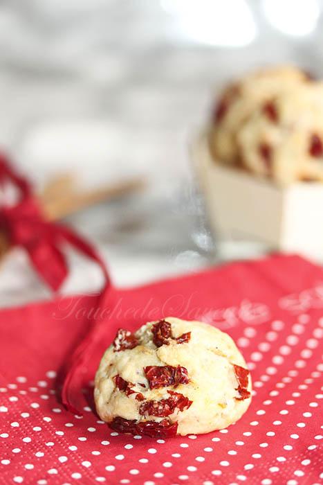 Cookies tomates séchées parmesan
