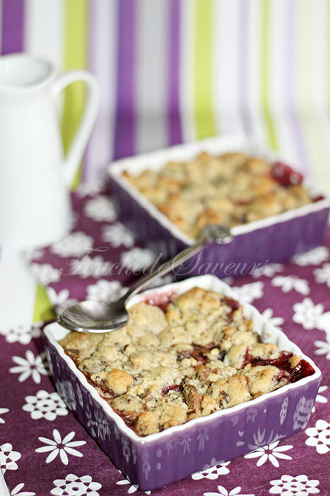 Crumble cookies mangue framboise