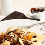 Crêpes gourmandes pomme chocolat