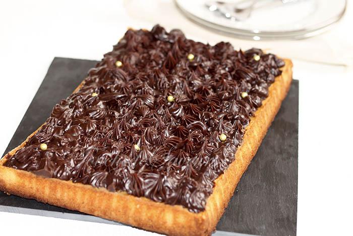Tarte amande chocolat tonka
