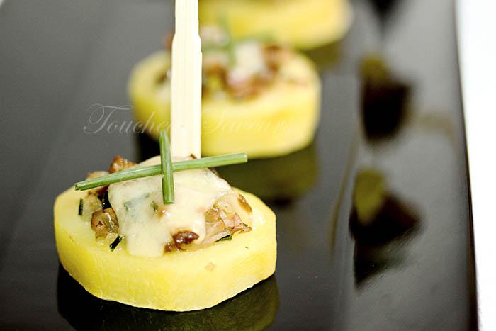 Canapés pomme de terre champignons comté1