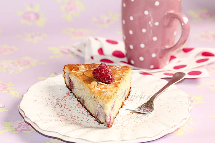 Gâteau amande ricotta framboise1
