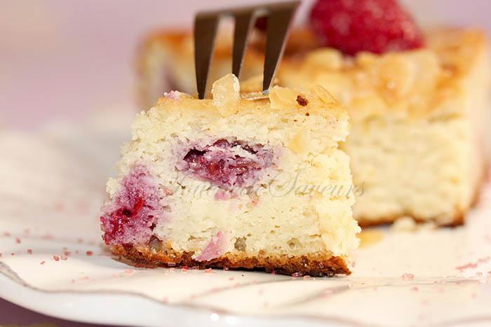 Gâteau amande ricotta framboise2