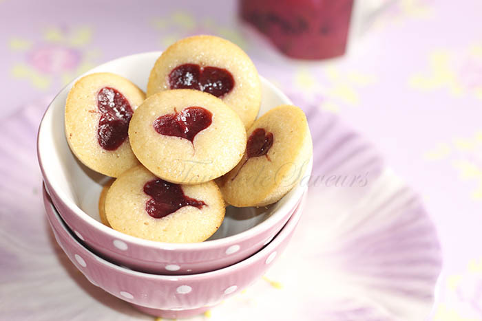 Financiers miel framboise