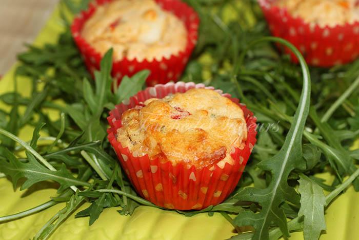 Mini cakes tomates séchées surimi poivron