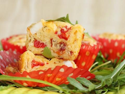 Mini cakes tomates séchées surimi poivron1