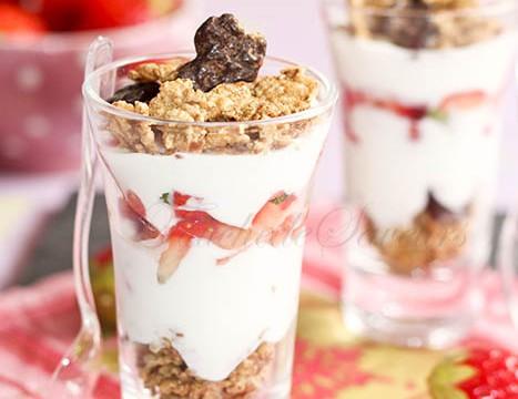 Verrine légère fraise yaourt