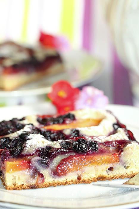 Gâteau nectarines myrtilles2