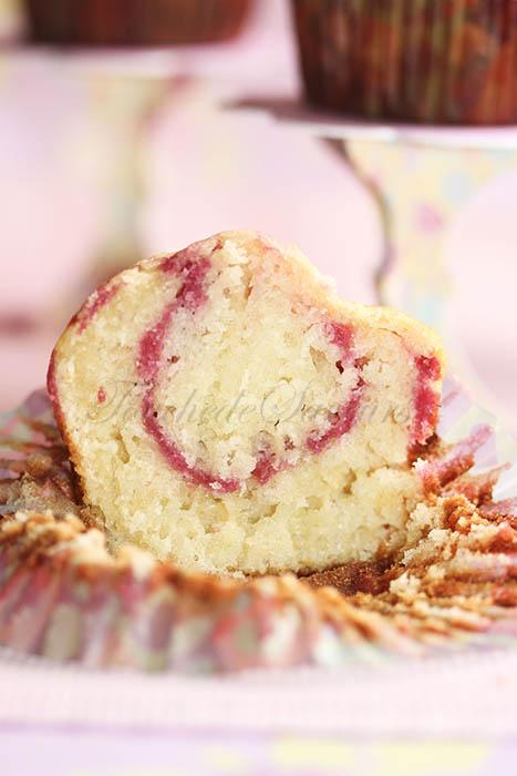 Muffins marbrés framboise2