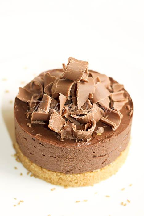 Cheesecake chocolat ricotta agar agar