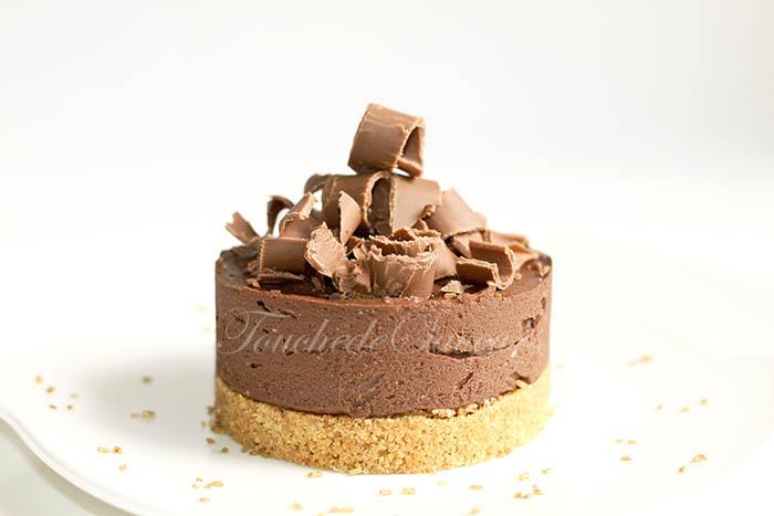 Cheesecake chocolat ricotta agar agar1