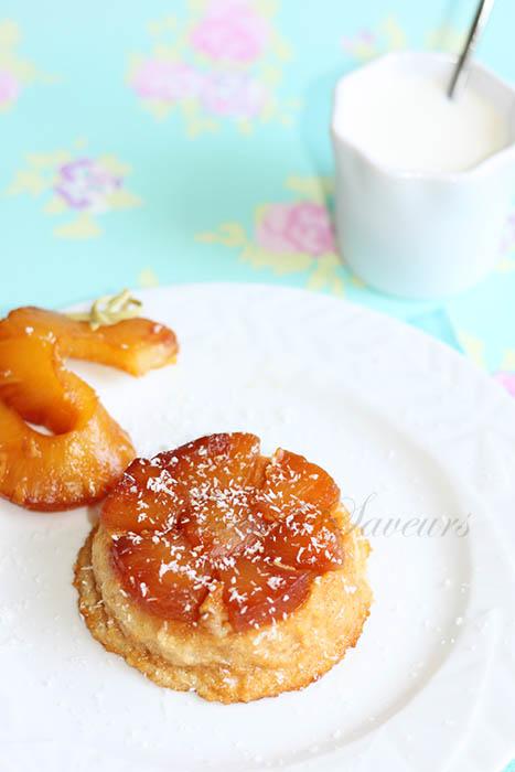 Gâteau semoule ananas caramélisé1
