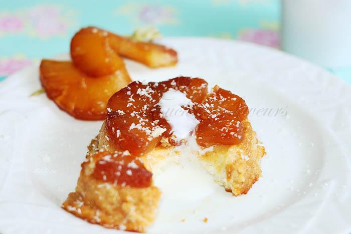 Gâteau semoule ananas caramélisé2