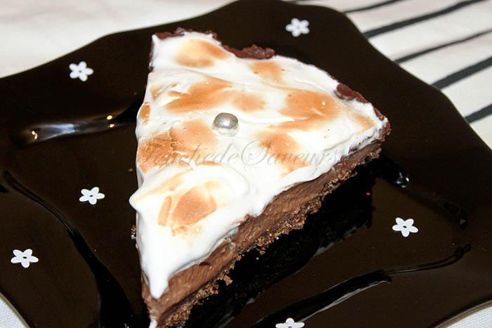 Tarte chocolat meringuée2