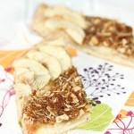 Tarte briochée pomme et crumble crêpes dentelle