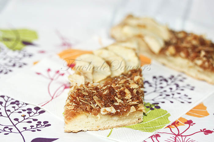 Tarte briochée pomme et crumble crêpes dentelle1