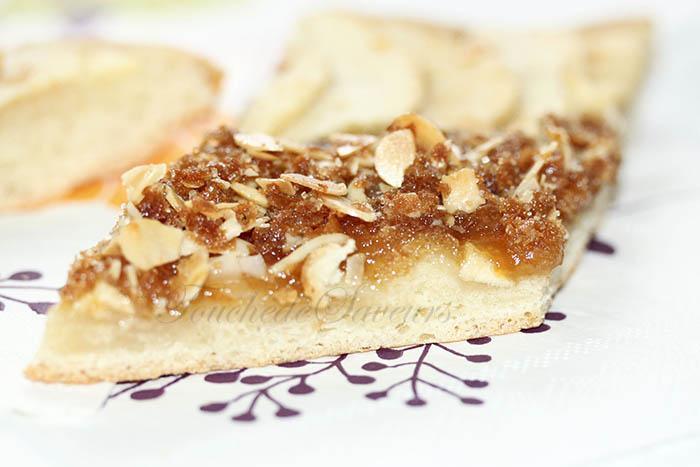 Tarte briochée pomme et crumble crêpes dentelle2