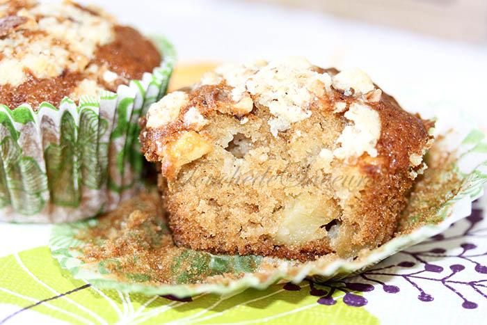 Muffins pomme érable crumble noix2