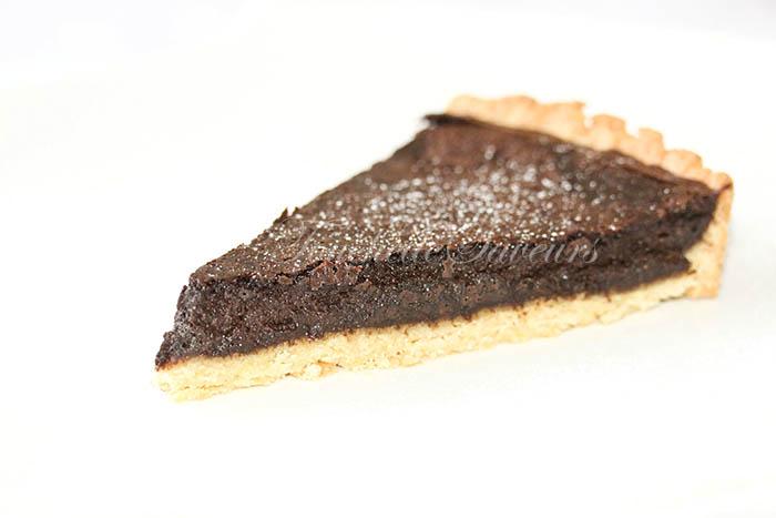 Tarte ricotta chocolat praliné