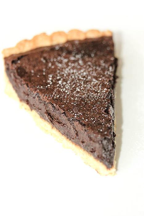 Tarte ricotta chocolat praliné1