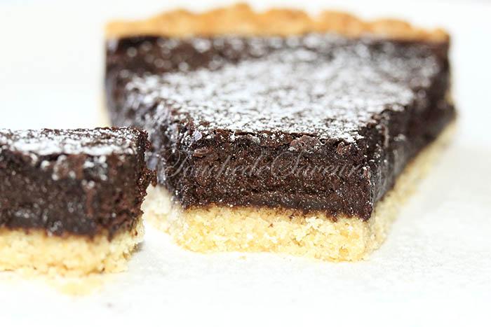 Tarte ricotta chocolat praliné2