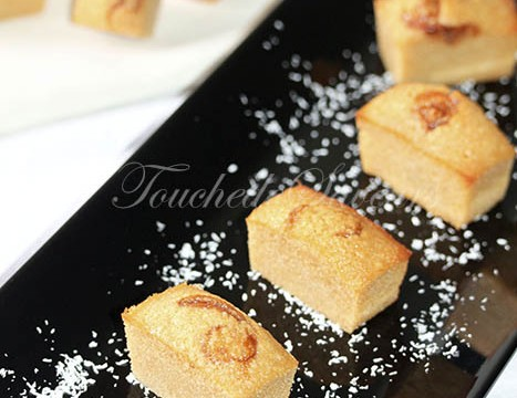 Financiers confiture de lait coco