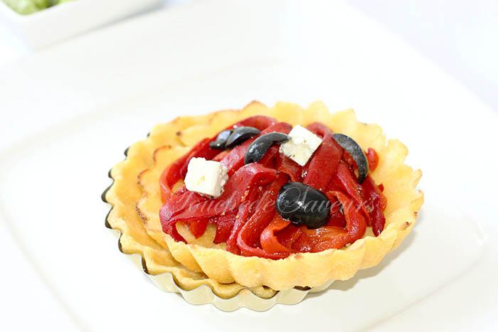Polenta'tarte poivron olives fêta1