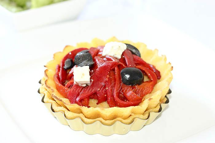 Polenta'tarte poivron olives fêta2