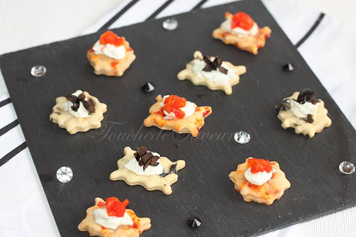 Biscuits salés yaourt poivron olives